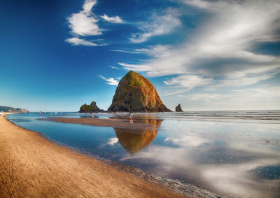 Cannon Beach And Haystack Rock In Oregon